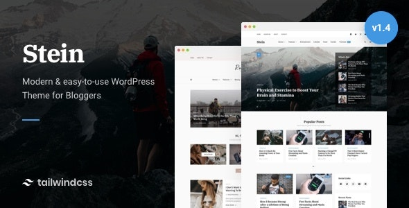 Stein ~ TailwindCSS WordPress Theme for Bloggers - Personal Blog / Magazine