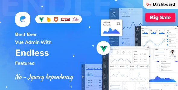Endless - Vue Admin Template - Admin Templates Site Templates