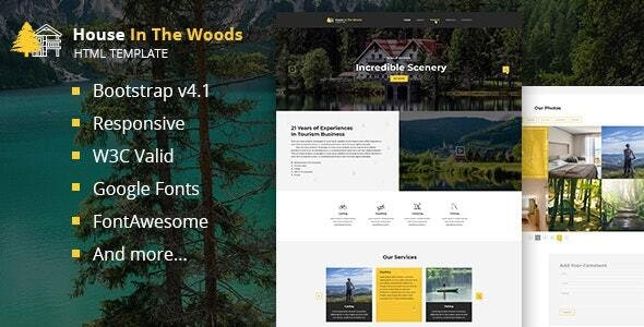 House In The Wood - Tourism and Entertainment HTML Template - Business Corporate