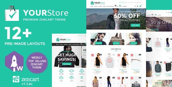 YourStore Premium Zen Cart Theme - Zen Cart eCommerce