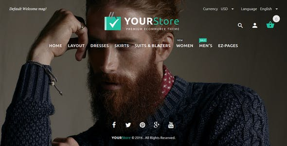 YourStore Premium Zen Cart Theme