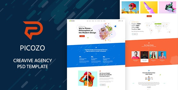 Picozo - Creative Agency PSD - Business Corporate
