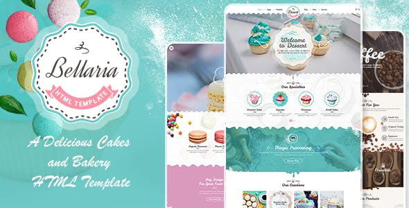 Bellaria - A Delicious Cakes and Bakery HTML Template