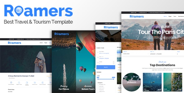 Roamers - Travel and Tour HTML Template - Travel Retail