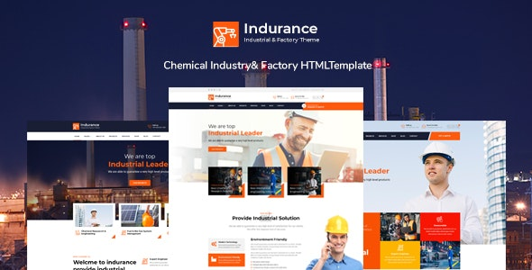 Indurance - Chemical & Factory HTML Template - Business Corporate