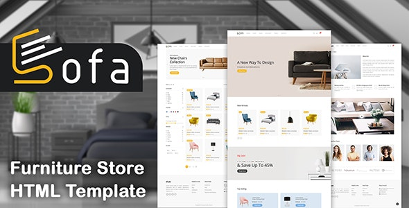 Sofa - Furniture Store HTML Template - Shopping Retail