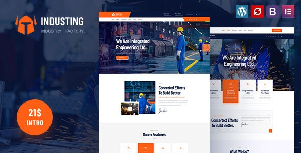 Industing - Factory & Business WordPress Theme - Business Corporate