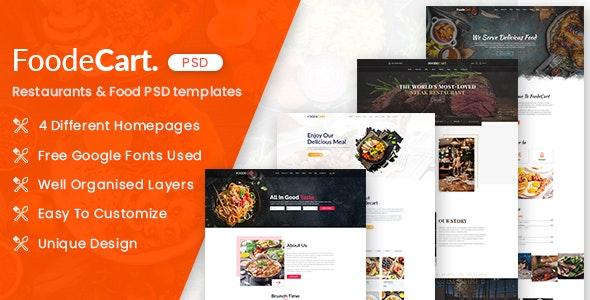 Foodecart - Restaurants & Food PSD Templates - Restaurants & Cafes Entertainment