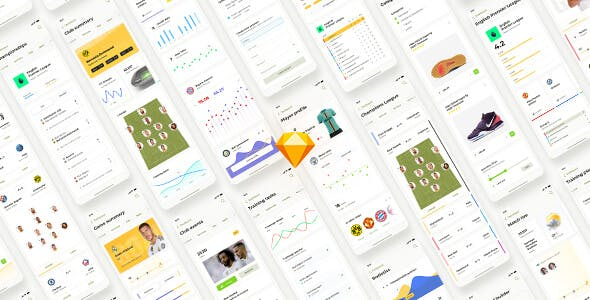 Liga – Soccer mobile app for Sketch
