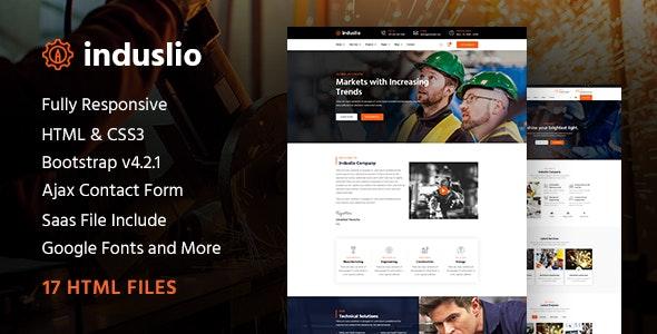Induslio | Industrial Industry & Factory Responsive HTML Template - Business Corporate