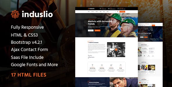 Induslio | Industrial Industry & Factory Responsive HTML Template