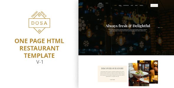 DOSA - One Page Restaurant HTML5 Template
