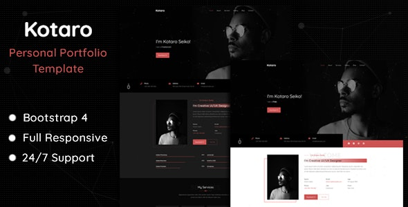 Kotaro - Personal Portfolio Template - Personal Site Templates