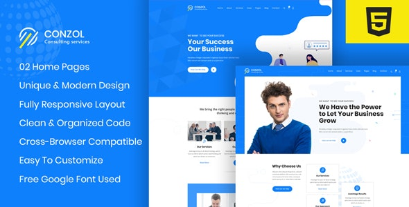 Conzol - Business Consultancy HTML Template - Business Corporate