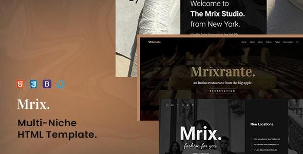 Mrix — Creative Multi-Niche Template - Creative Site Templates