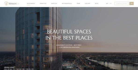 MaisonCo - Single Property WordPress Theme
