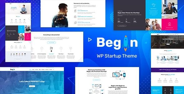 Begin - Startup WordPress SaaS Theme - Business Corporate