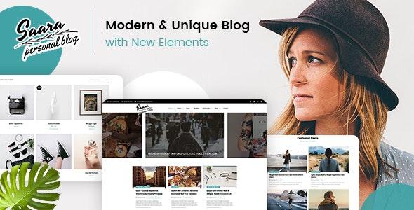 Saara - Minimal Blog WordPress - Personal Blog / Magazine
