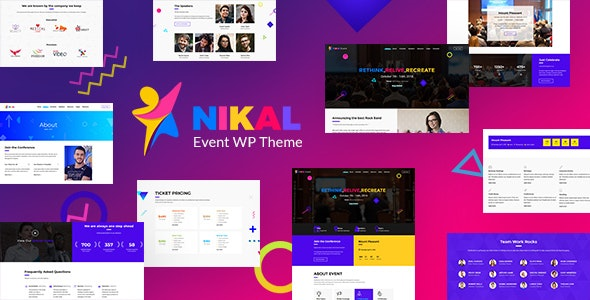 Nikal - Seminar Event Planner WordPress Theme - Events Entertainment
