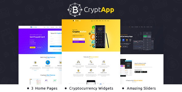 Crypt App - Landing Page Theme - Software Technology