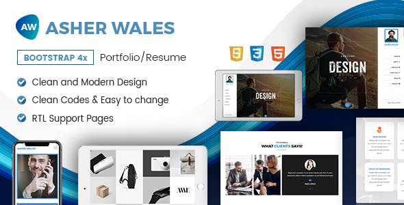 AW | Personal / Portfolio / Resume One Page HTML5 Template