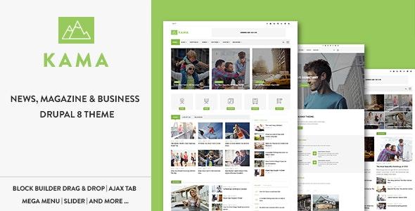 Kama - Responsive Magazine & Business Drupal 8.8 Theme - Blog / Magazine Drupal