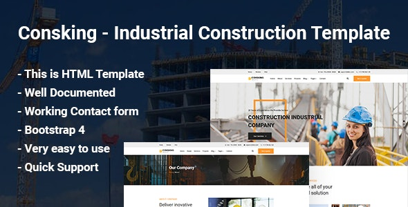 Consking - Industrial Construction Template - Business Corporate