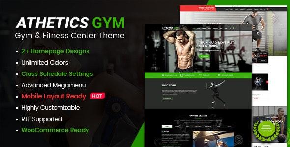 Athetics - Gym Fitness WordPress Theme (Mobile Layout Ready) - Health & Beauty Retail