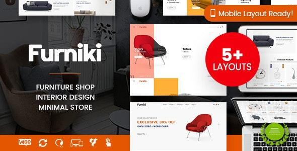 Furniki - Furniture Store & Interior Design WordPress WooCommerce Theme (Mobile Layout Ready) - WooCommerce eCommerce