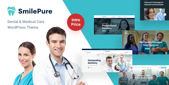 SmilePure - Dental & Medical Care WordPress Theme - Business Corporate