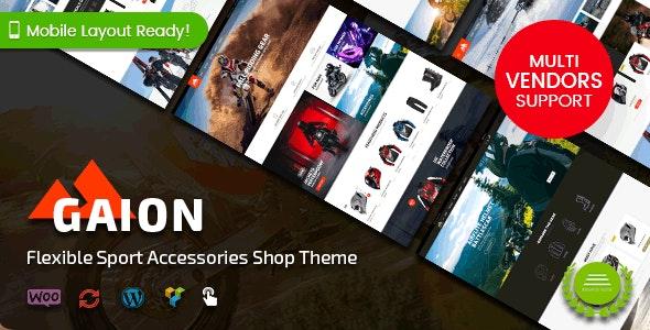 Gaion - Sport Accessories Shop WordPress WooCommerce Theme (Mobile Layout Ready) - WooCommerce eCommerce