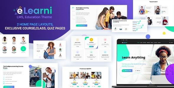 Online Learning & Education LMS - eLearni - Education WordPress