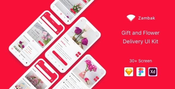 Zambak - Gift and Flower Delivery App UI Kit - Sketch UI Templates