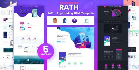 RATH - App Landing Onepage HTML Template - Software Technology