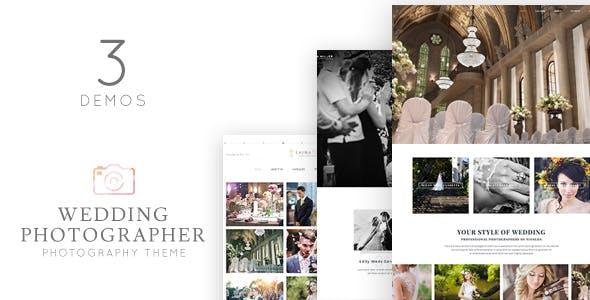 Wedding Photographer WordPress Theme - Vivagh