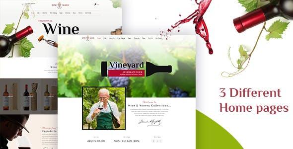 Wine Maker - Winery WordPress Shop