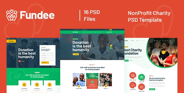 Fundee - NonProfit Charity PSD Template - Charity Nonprofit