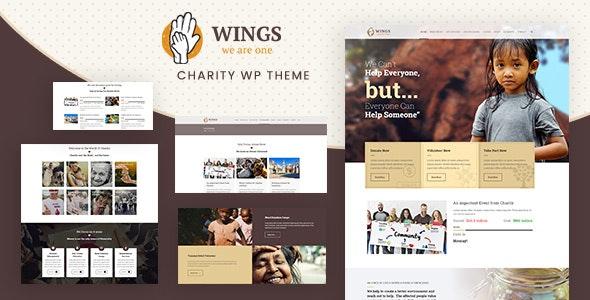 Wings | Charity Foundation WordPress - Charity Nonprofit