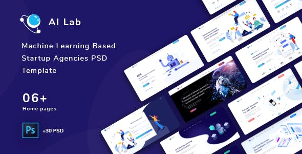 AI Lab - Machine Learning Based Startup Agencies PSD template