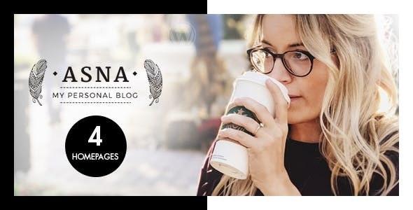 Asna - Creative Blog Theme - Personal Blog / Magazine