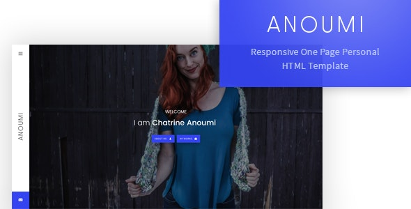 Anoumi - Responsive One Page Personal/CV/Portfolio Template - Personal Site Templates