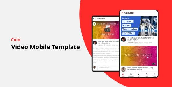 Colo - Video Mobile Template - Mobile Site Templates