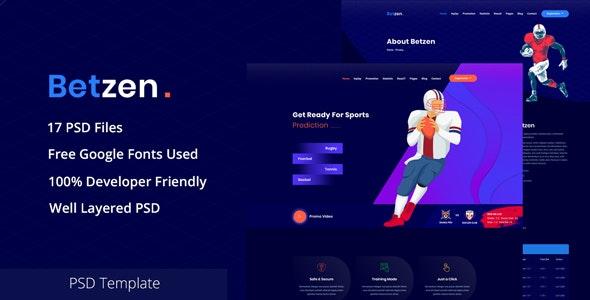 Betzen - Isometric Sports Betting PSD Template - Business Corporate