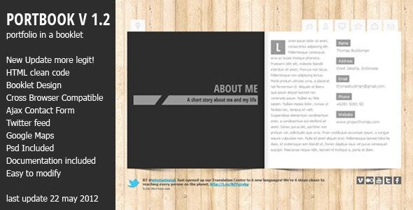 Portbook - Portfolio Booklet Template - Personal Site Templates