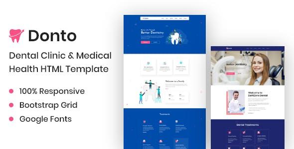 Donto I Dental Clinic & Medical Health HTML Template
