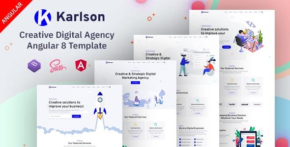 Karlson - Marketing & IT Agency Angular 8 Template - Marketing Corporate