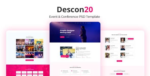Descon Event & Conference PSD Template - Events Entertainment