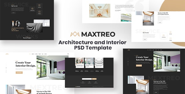MEXTREO – Architecture & Interior PSD Template - Business Corporate