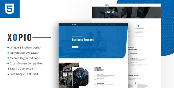Xopio - Minimal Business HTML Template - Business Corporate