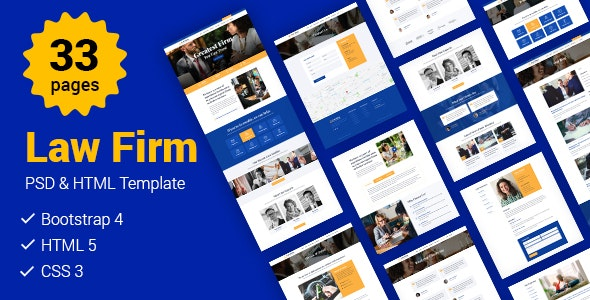 ESS - Law Firm HTML Template - Business Corporate